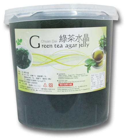 Thạch ống agar pha lê trà xanh Đài Loan