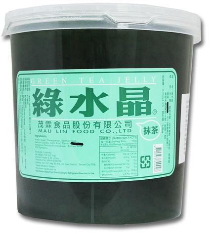 Thạch ống trà xanh