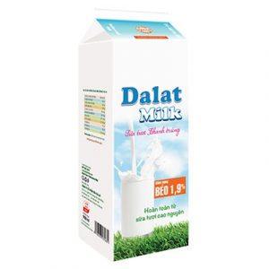 Sữa Tươi Thanh Trùng Dalat Milk Hộp 950ml
