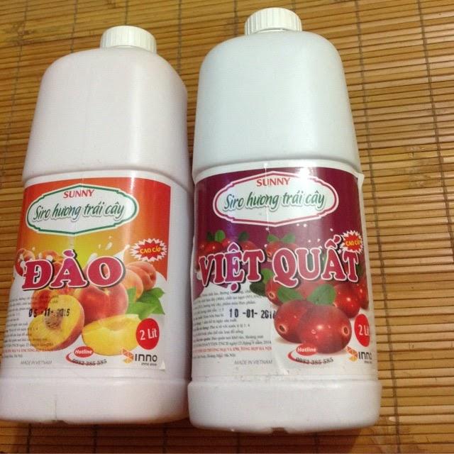 Siro trà sữa hương trái cây